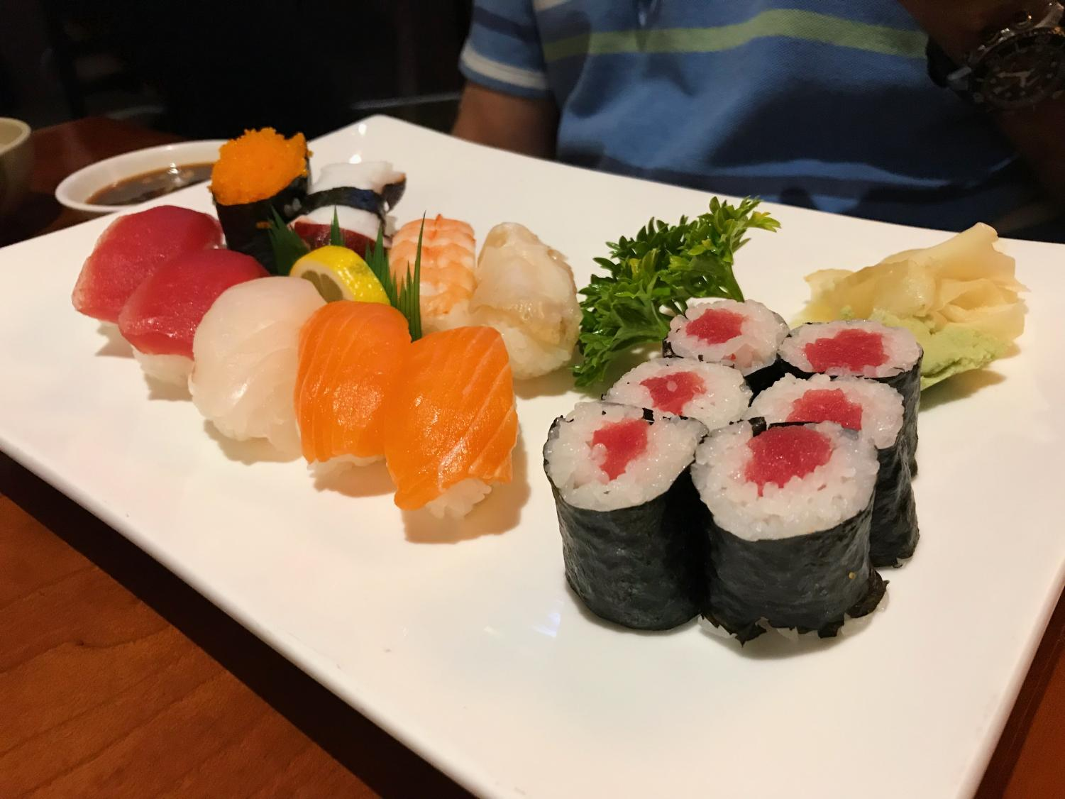 The sushi at Izakaya is always made with the freshest fish.