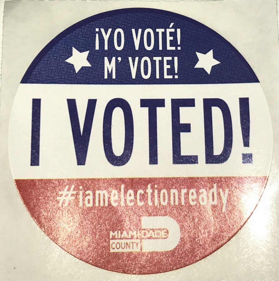 This is the sticker that every person who voted on Aug. 28 received. If you're not otherwise motivated to vote, do it for the sticker!