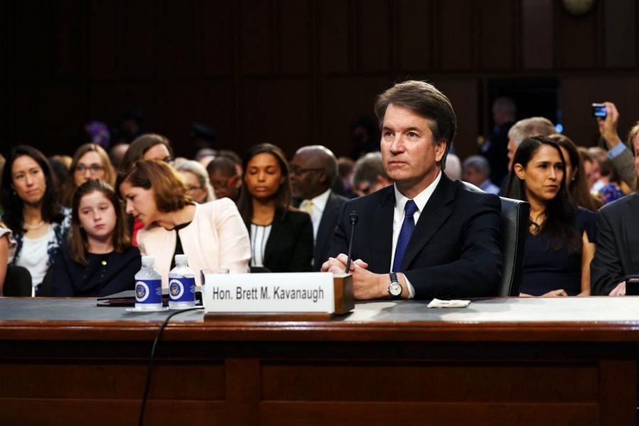 Judge Brett Kavanaugh testifies before the Senate Judiciary Committee.
