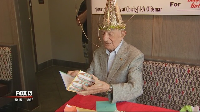 Stephen Bellissimo received a birthday card at his local Chick-Fil-A.