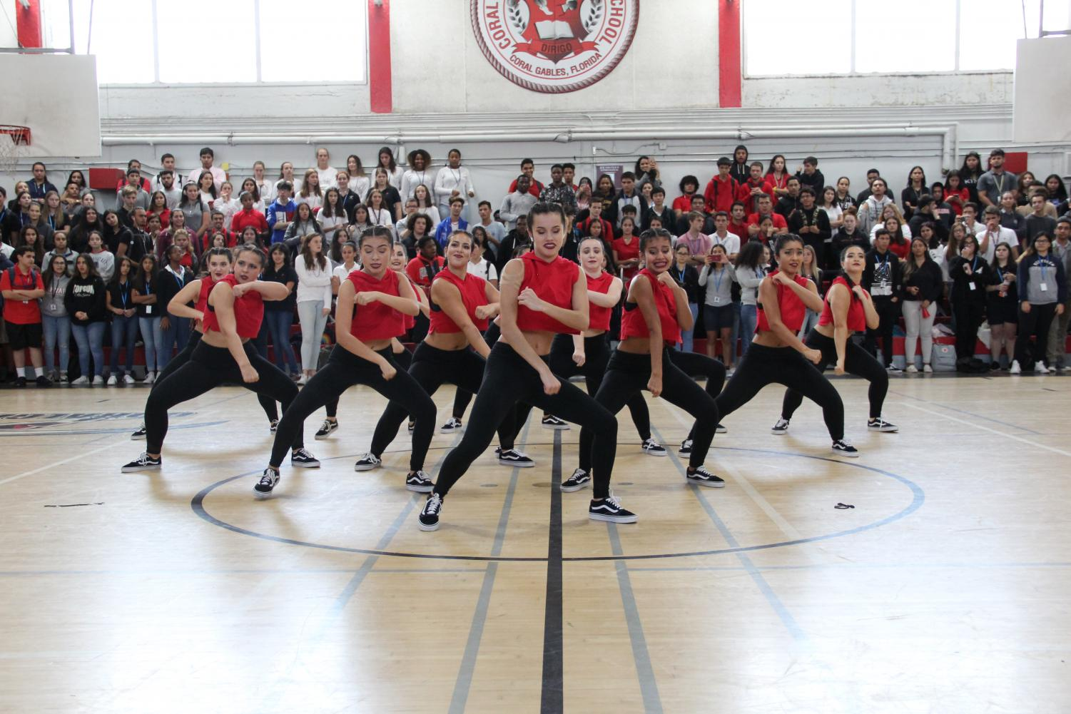Gables%27+very+own+Gablettes+dance+team+gave+a+spectacular+performance+at+the+Alma+Mater+pep+rally.+++