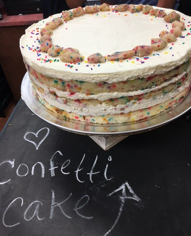 The famous Christina Tosi funfetti cake.