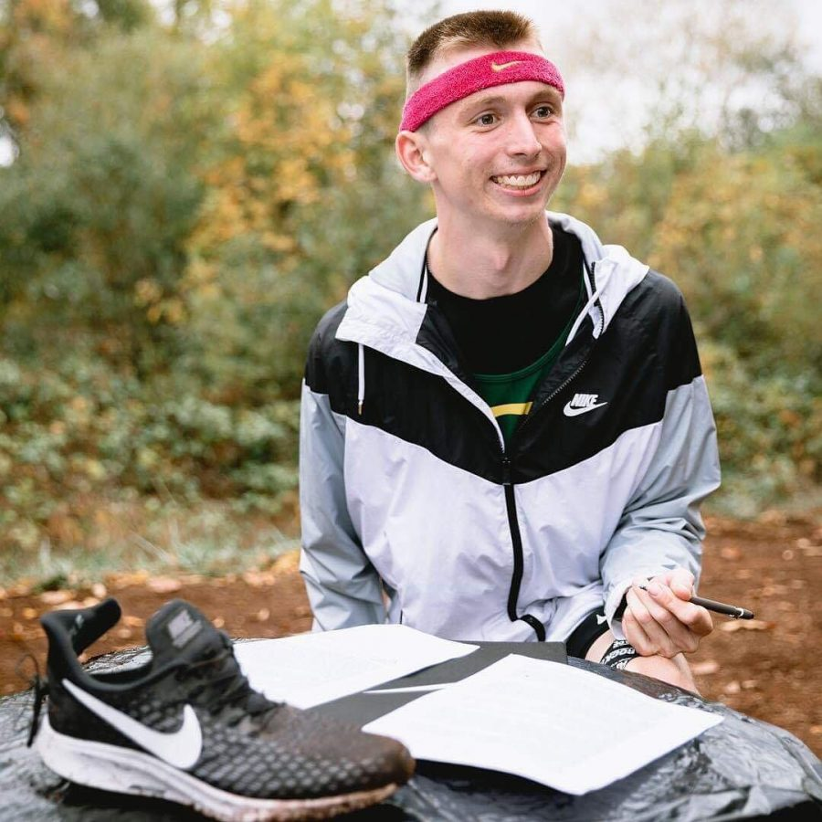 Justin Gallego sports his Nike gear.