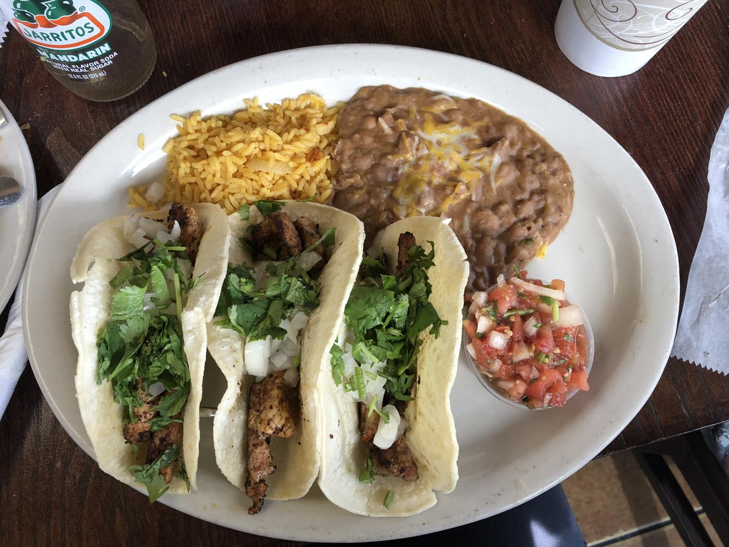 Taco Rico serves excellent meals at affordable prices.