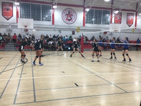 Fifth Time's A Charm: Girls Volleyball Wins on Senior Night