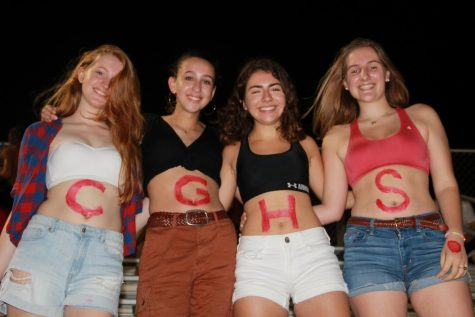Seniors show their love for Gables with body paint.