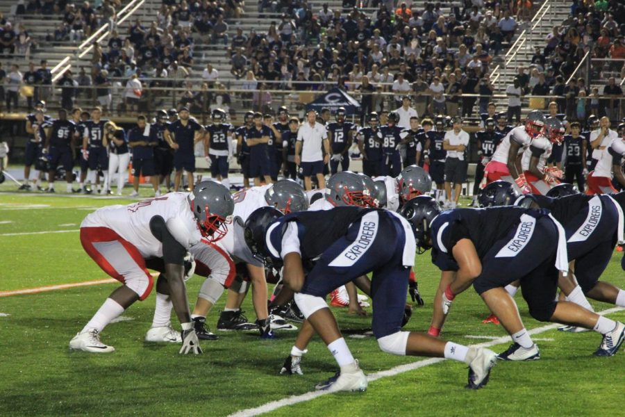 Coral Gable's offensive team on first down.