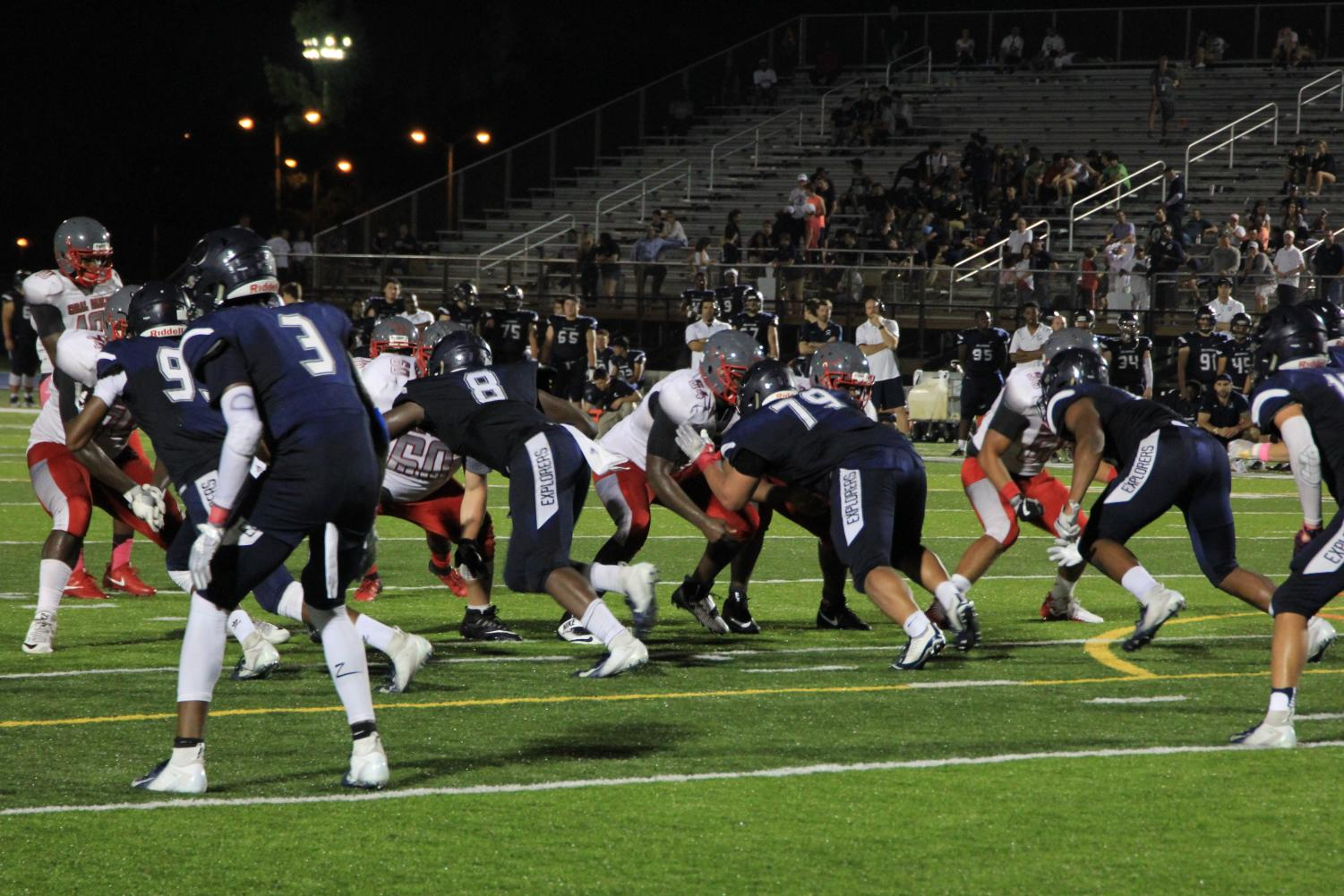 Both+Gables+and+Columbus+players+clash+heads+during+this+intense+play.