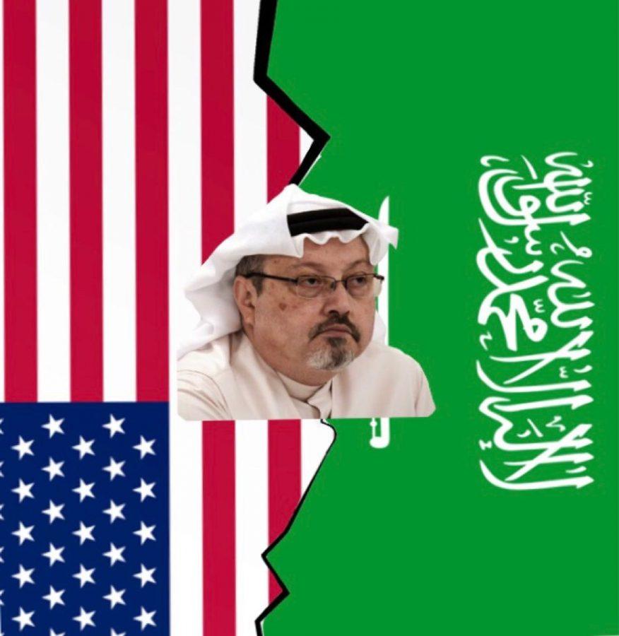 Tension between the United States and Saudi Arabia due to Jamal Khashoggi's death.