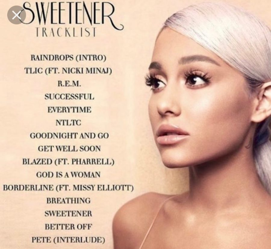 The Sweetener album is  very different compared to the other albums.