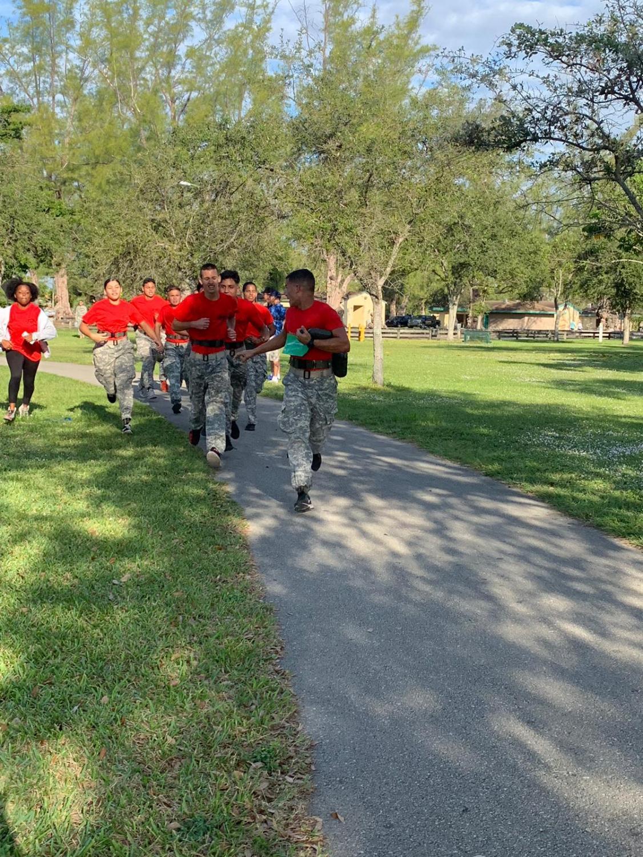 Battalion+Commander+Juan+Toranzo+leading+the+team+in+the+5k+run.+