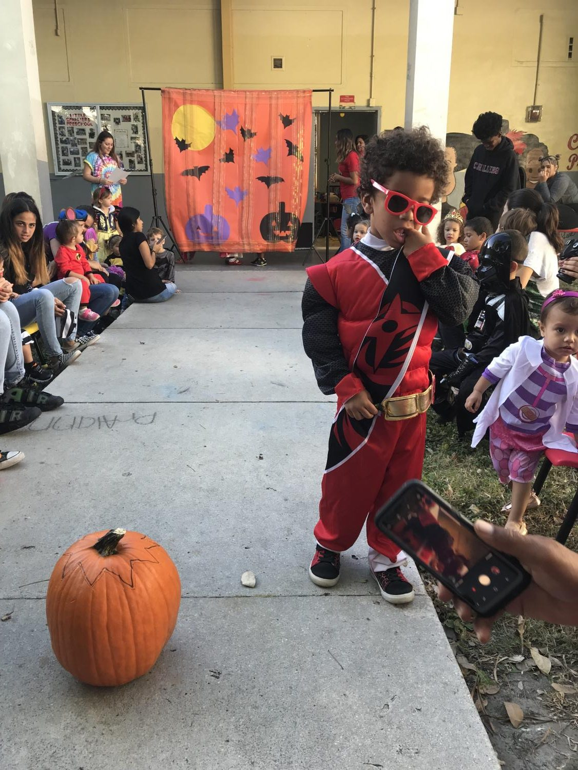 Little+Cavalier+showing+off+his+costume+at+the+Halloween+Fashion+show.