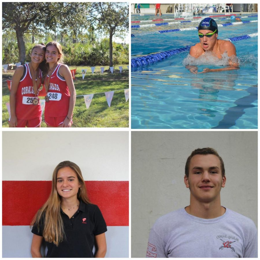 Junior+Violeta+Alonso+posing+%28left%29+alongside+her+teammate+after+meet.+Junior+Jonnathan+Gonzalez++%28right%29+in+the+middle+of+training+for+upcoming+meet.