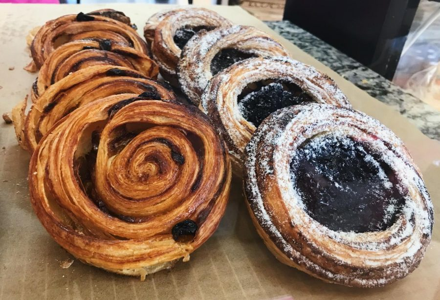 The pain aux raisins and blueberry croissants are ideal for a breakfast on the go.