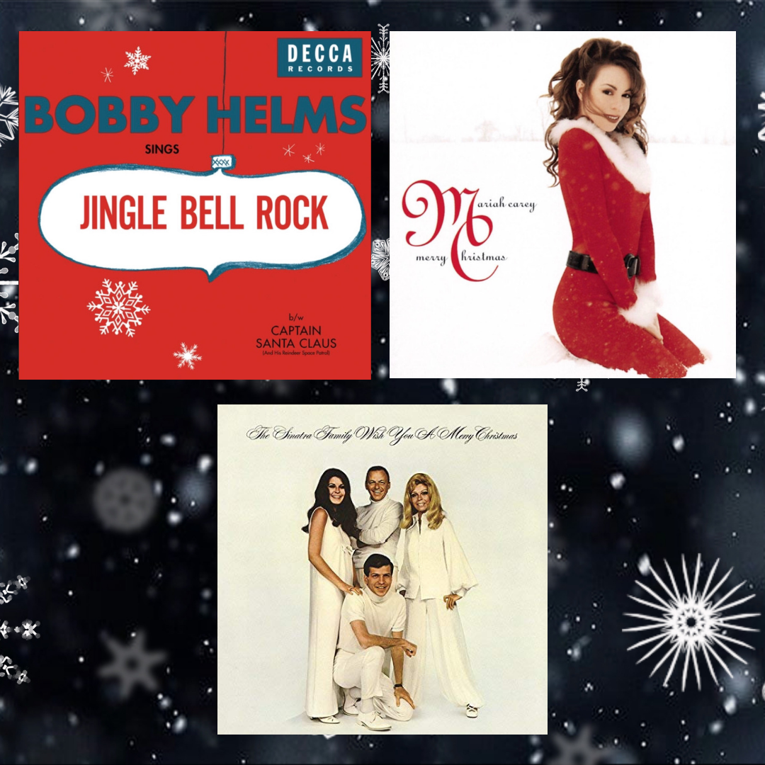 The three different album covers perfectly depict the spirit of the winter holidays.