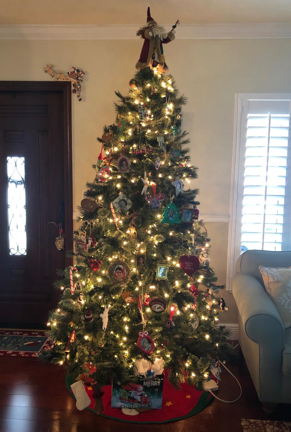 Christmas trees can have both personalized and thematic decorations