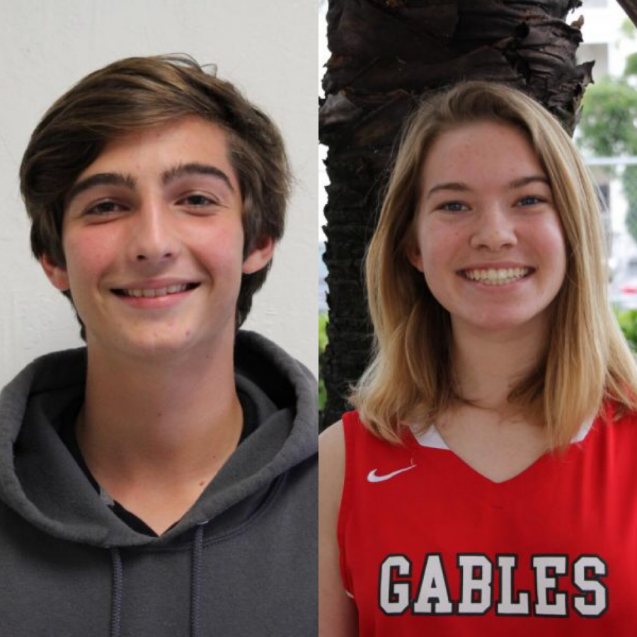 The two athlete spotlights, August Field and Mia Crabill, for the time spanning between Dec. 3 to Dec 14.