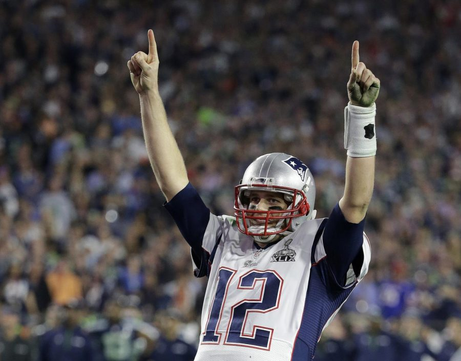 Tom Brady, one of the most successful quarterbacks to ever live, celebrates a touchdown.