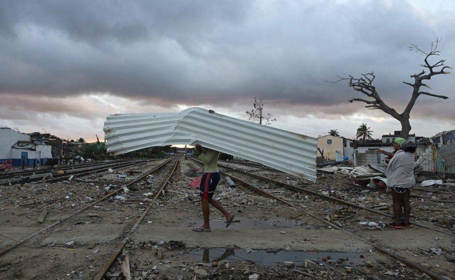 La ciudad destruida por el tornado.