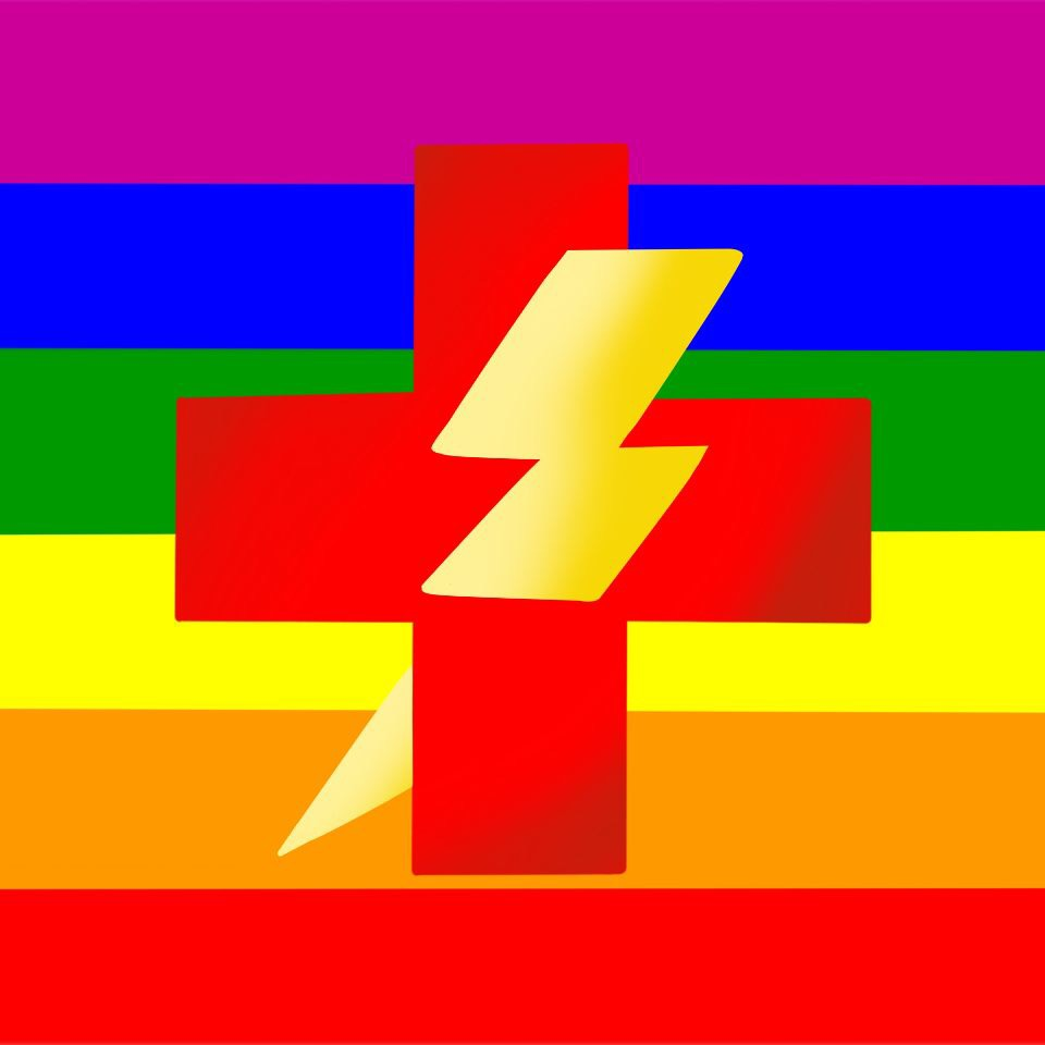 This image is considered the logo for those against gay conversion therapy.