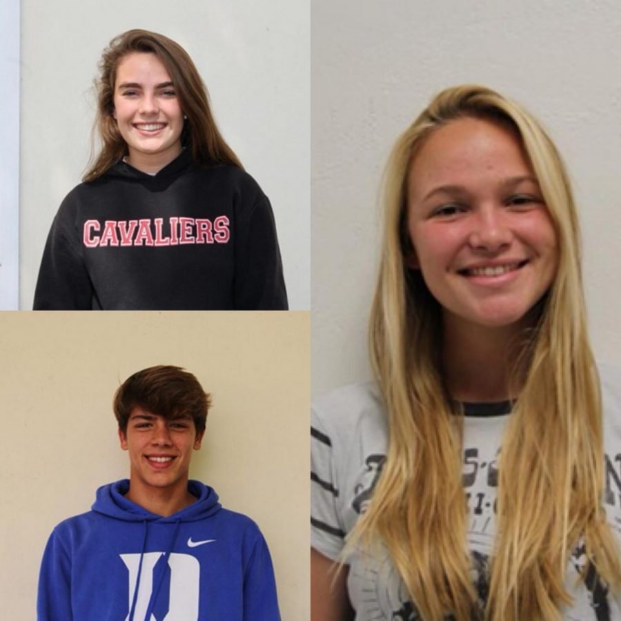 The Athletes of the Week for the month of January.Pictured Above: Charlotte Bilbao (Top left), Etienne Montigny (Bottom Left), Ceci Rodriguez (Right)