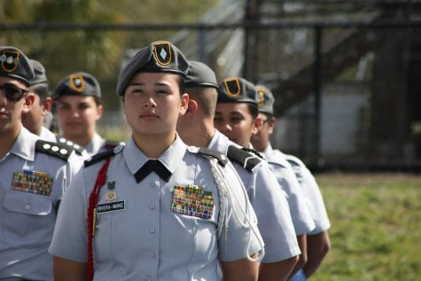 Carvalho commemorates JROTC cadets