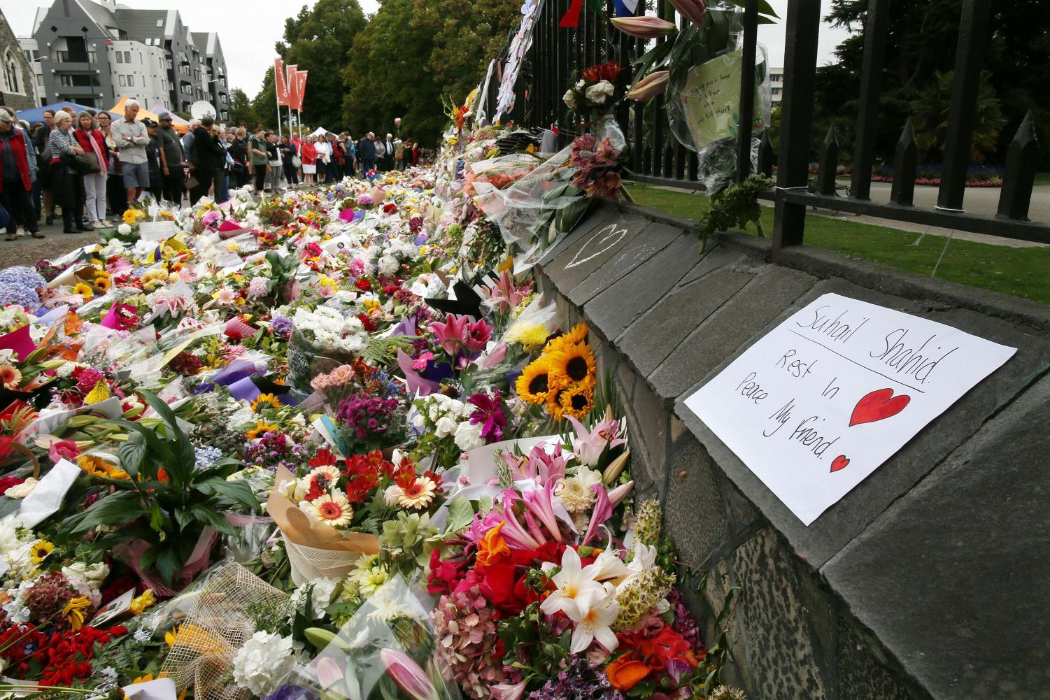 People from around the world mourned with Christchurch, New Zealand after the mass shooting.