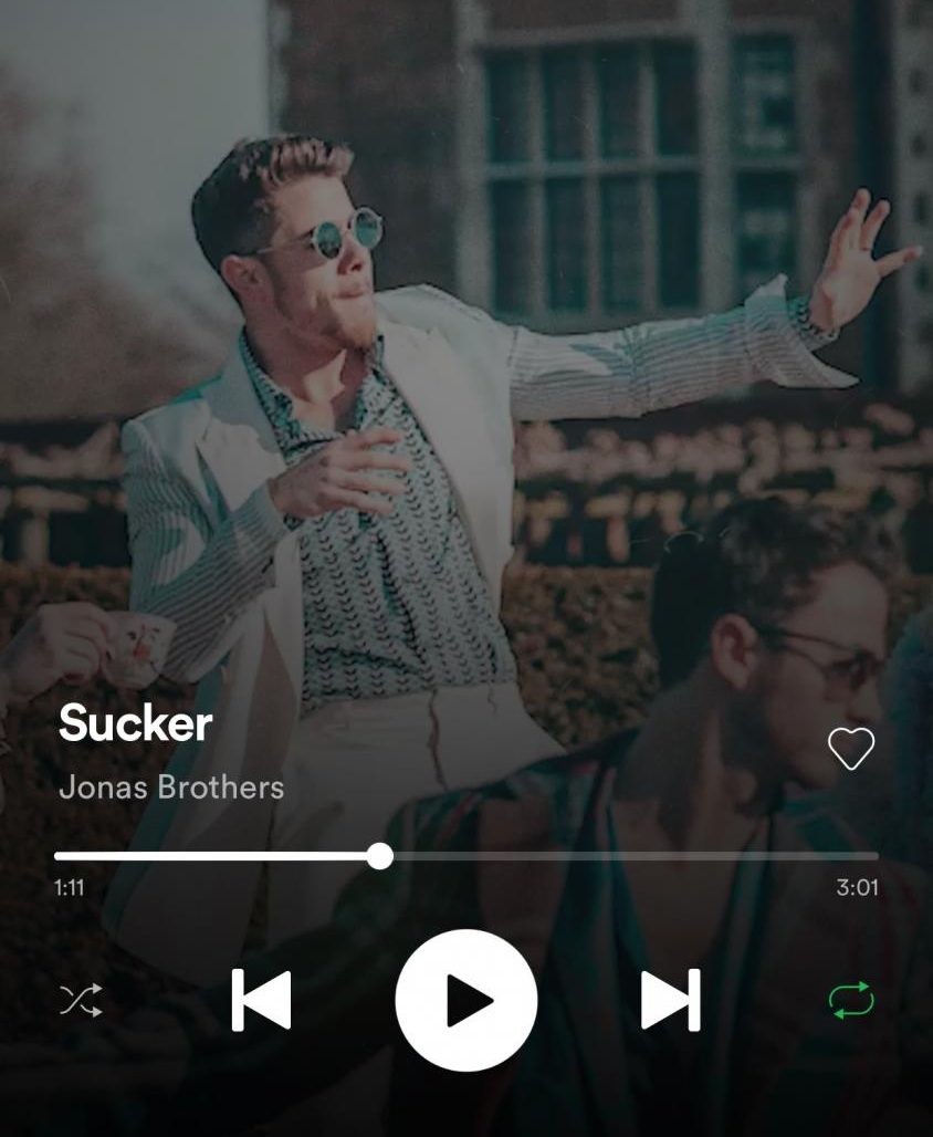 'Sucker' available for streaming on Spotify!