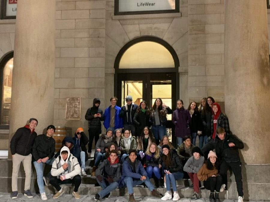 Students ate at the historic Faneuil Hall during their trip into the heart of Boston.