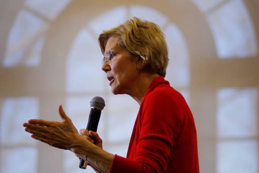 Senator+Elizabeth+Warren+has+announced+her+intention+to+aggressively+regulate+large+tech+firms+as+part+of+her+presidential+platform.