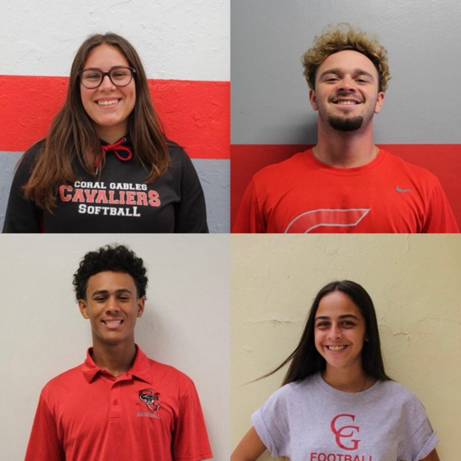 Rebecca+Rodriguez%2C+Ernest+Denis%2C+Natalie+Puntonet%2C+and+Manuel+Jackson+represent+Gables+sports+in+a+tremendous+way+throughout+the+month+of+March%2C+with+each+rightfully+being+named++an+Athlete+of+the+Week.