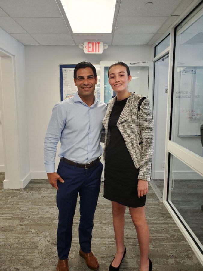 Sofia had the opportunity to work alongside Mayor of Miami, Mayor Suarez this summer.