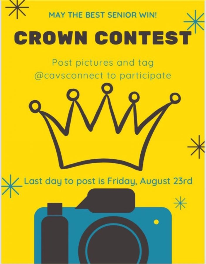 It is your time to shine, class of 2020!  Flaunt your Cavalier spirit throughout the first week of school with the CavsConnect Senior Crown Contest, running from Monday, Aug. 19 through Friday, Aug. 23.