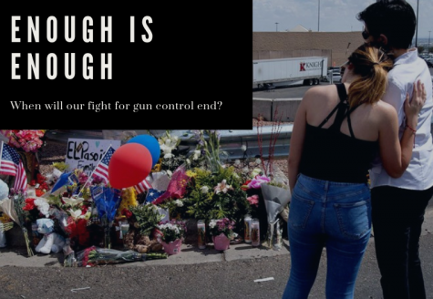 A couple mourns the fallen victims of the  El Paso shooting.