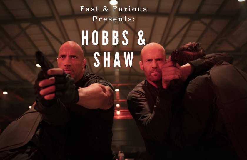 Dwayne Johnson (left) and Jason Statham (right) as Luke Hobbs and Deckard Shaw in their new movie,