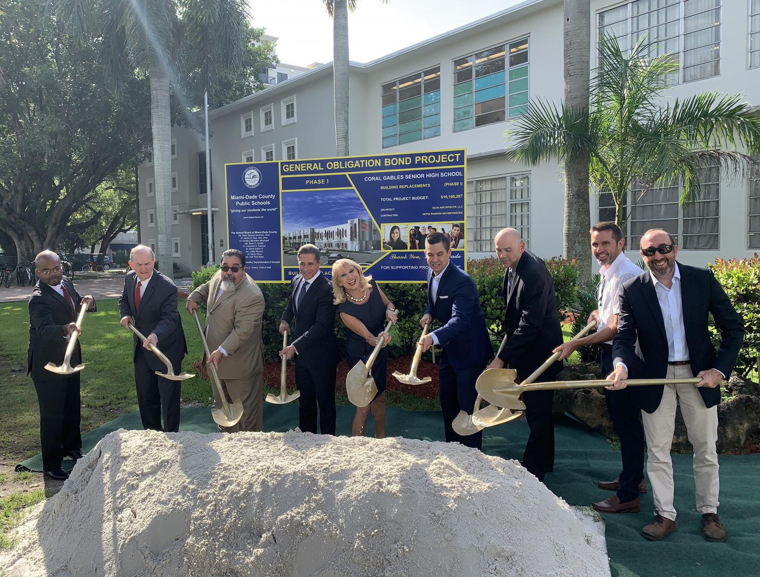 Miami Dade County Public School (MDCPS) board members along with school administrators gathered to celebrate this momentous day that marks the rebirth of Coral Gables Senior High (CGSH).