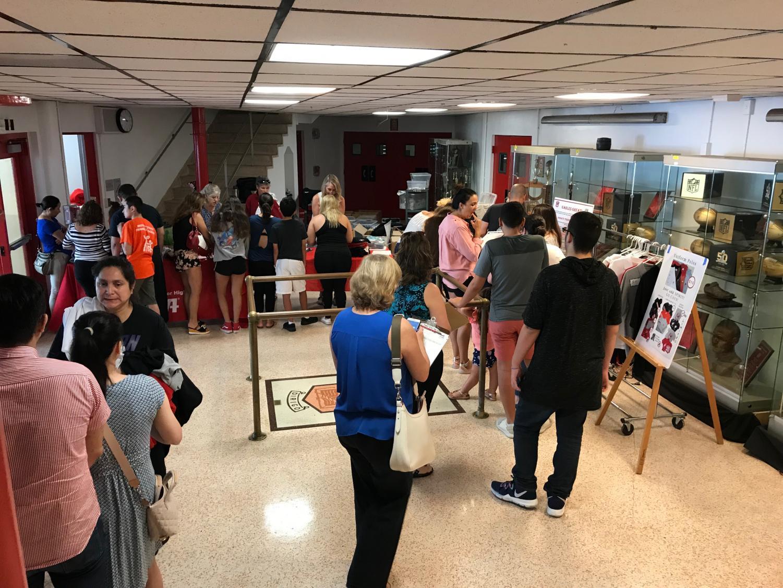 On Aug.11, the PTSA held one of several school uniform sales.