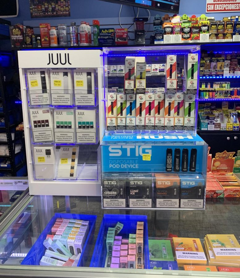 Juuls+have+grown+to+be+such+a+marketable+and+profitable+product+that+they+are+now+being+displayed+as+a+top-seller+item+in+smoke+shops.