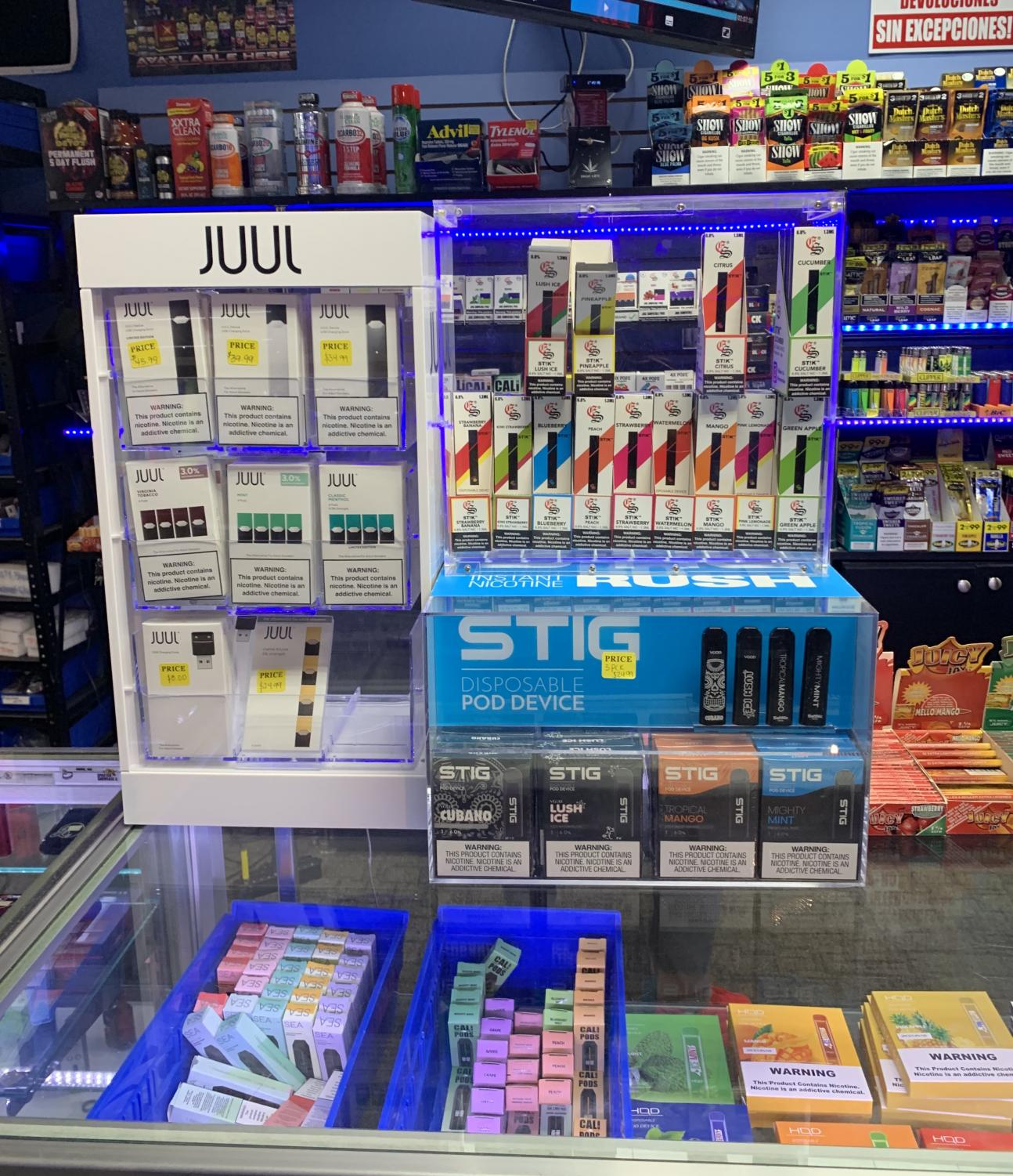 Juuls have grown to be such a marketable and profitable product that they are now being displayed as a top-seller item in smoke shops.