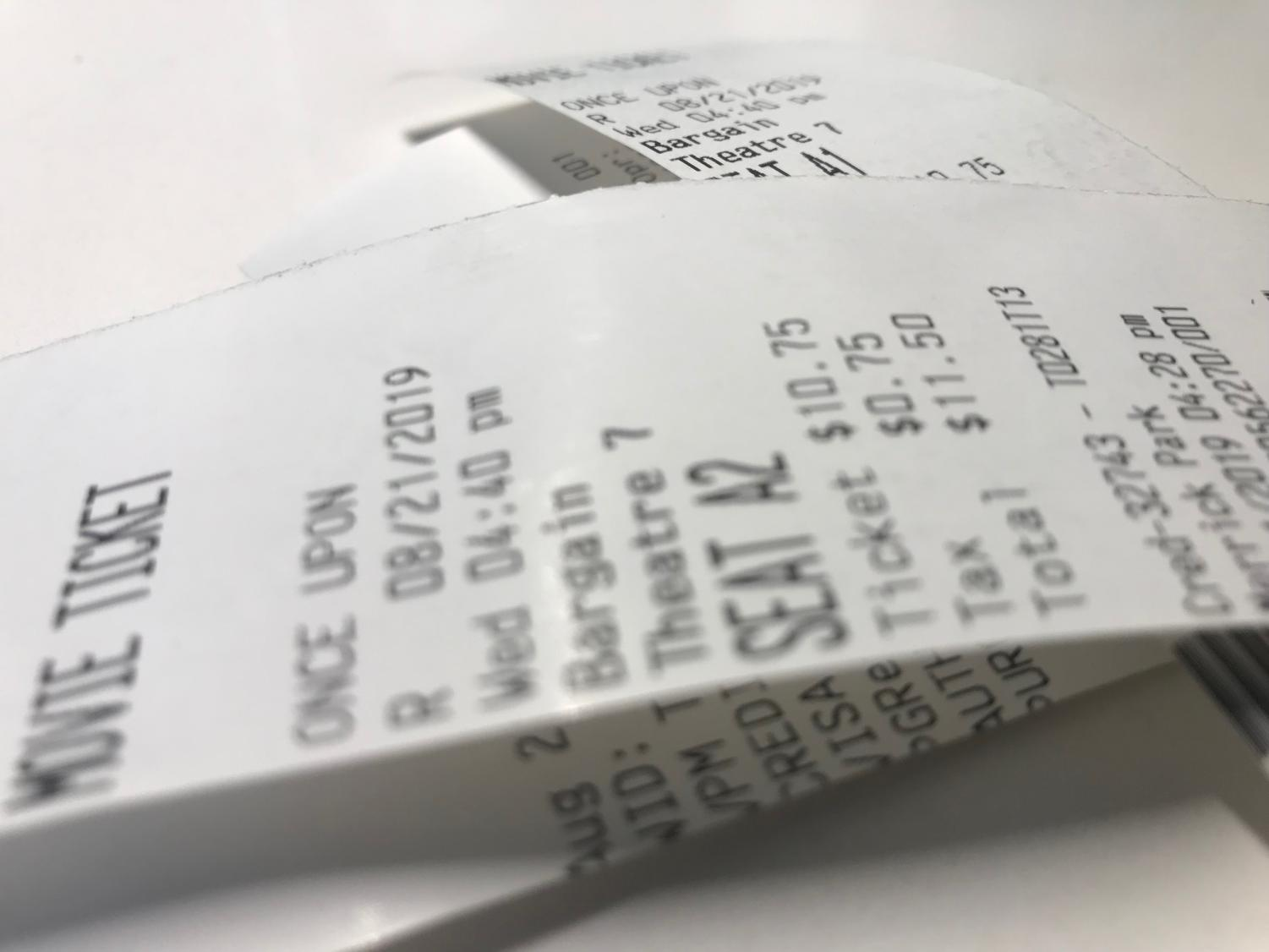 Tickets to watch Once Upon A Time in Hollywood right near Gables