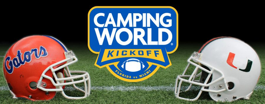The+2019+Camping+World+Kickoff+event+jump-started+the+beginning+of+college+football%2C+hosting+two+historically+elite+college+football+teams+in+the+Miami+Hurricanes+and+the+Florida+Gators.