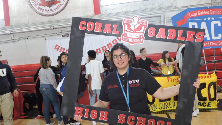 Senior Sophia Campos promotes Future Educators of America (FEA).