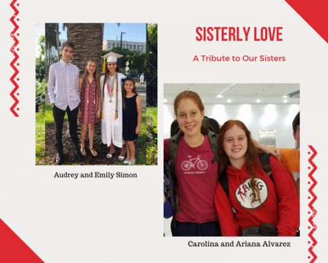 Alumni Emily Simon and Carolina Alvarez continue to stand with their sisters,  Audrey Simon and Ariana Alvarez, even after the two have embarked on their journeys to college.
