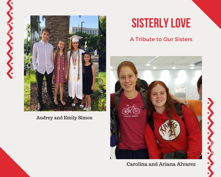 Alumni+Emily+Simon+and+Carolina+Alvarez+continue+to+stand+with+their+sisters%2C++Audrey+Simon+and+Ariana+Alvarez%2C+even+after+the+two+have+embarked+on+their+journeys+to+college.