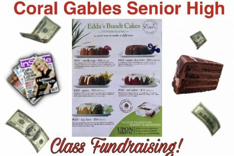 This article is meant to help students find information on their class fundraiser, where they have to sell magazines and cakes to support Coral Gables Senior High.