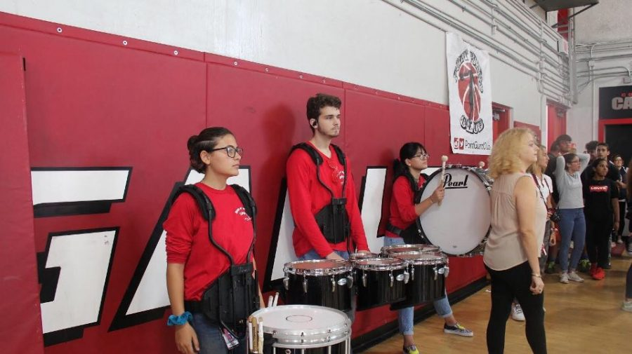 The band drumline.