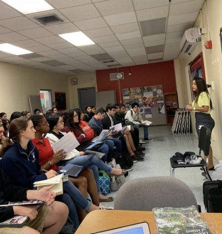 A UM admissions representative attended CGHS and presented juniors and seniors with an overview of the programs, financial aid and requirements UM has.