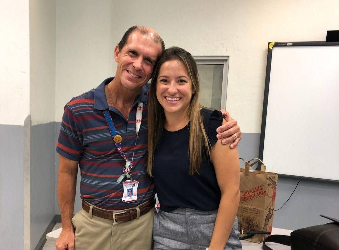 Alumna and former student of Mr. Molina, Dr. Michelle Fletcher, returned to CGHS to speak about her journey after high school and share her experience in the medical field with current students.