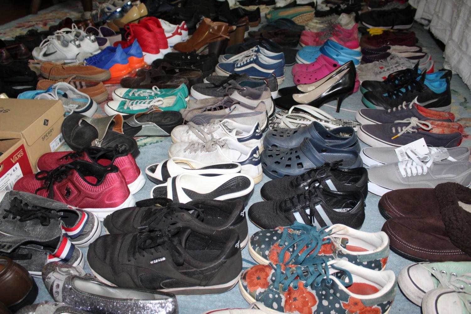 Horton's diligence allowed for 67 pairs of shoes to be collected in her most recent shoe drive.