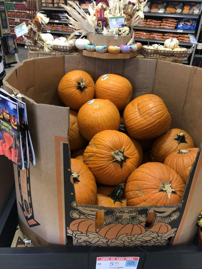 Many+grocery+stores+and+pumpkin+patches+sell+pumpkins+throughout+the+fall+season.